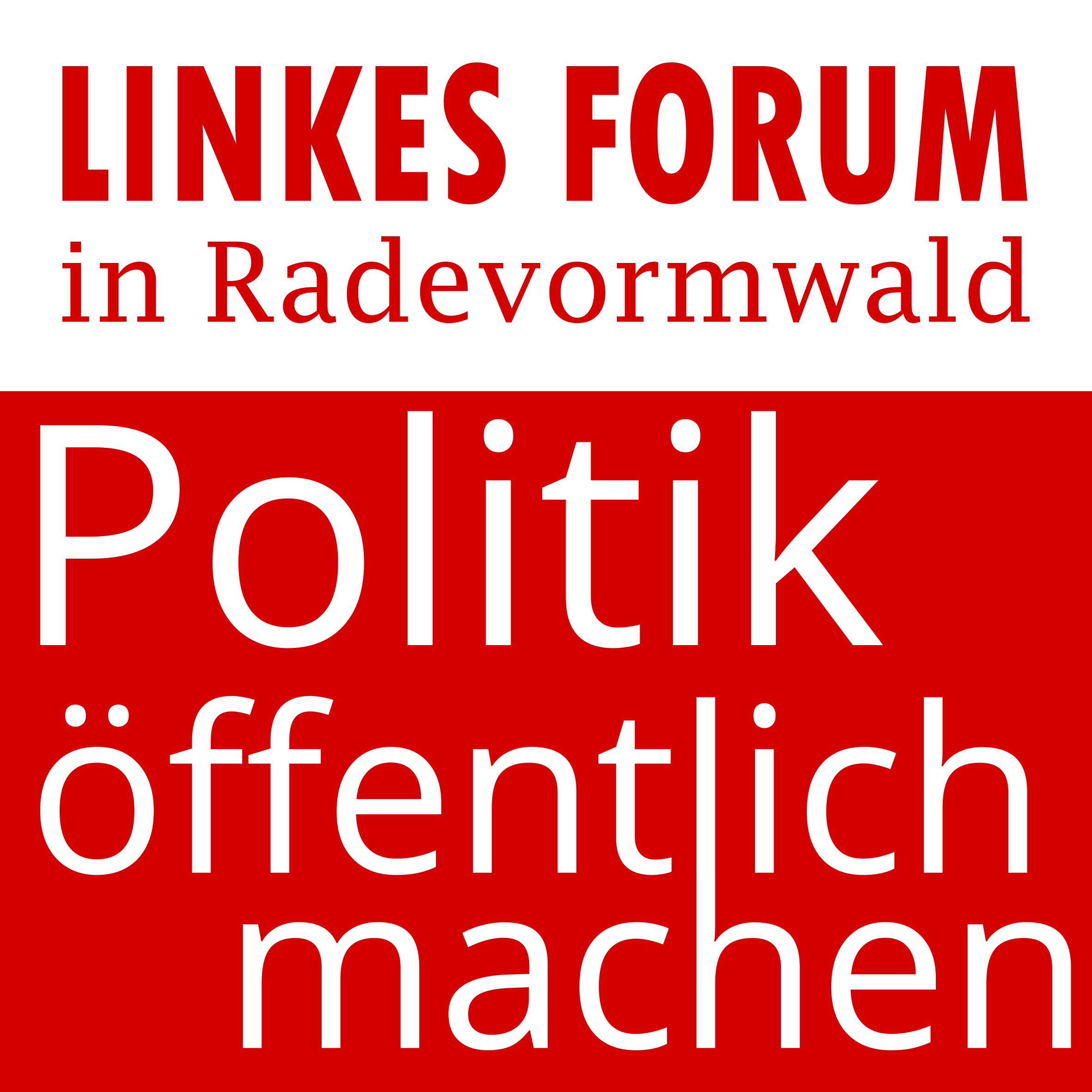 Politik öffentlich machen