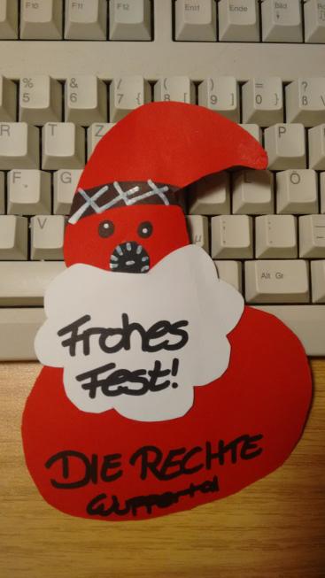 Die Weihnachtskarte, die Fritz Ullmann in seinem Briefkasten fand, befindet sich jetzt bei der Polizei.