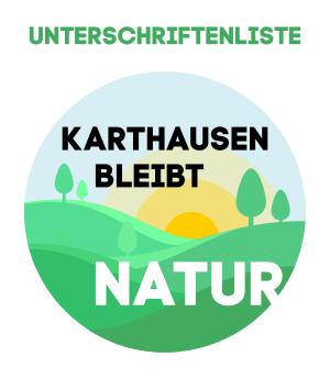 Karthausen-Unterschriftenliste